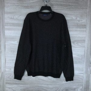 Toscano Long Sleeve Patterned Crewneck Sweater